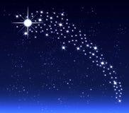 O Natal protagoniza no céu noturno Imagens de Stock Royalty Free