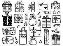O Natal rabisca - a ilustração tirada mão ilustração stock