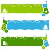 O Natal retro golpeia bandeiras horizontais ilustração stock