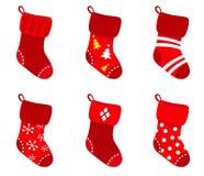 O Natal retro vermelho golpeia a coleção. Imagem de Stock