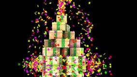 O Natal stars a explosão para um partido especial ilustração royalty free