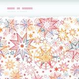 O Natal Textured Stars sem emenda rasgado horizontal Imagens de Stock Royalty Free
