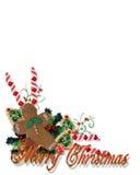 O Natal trata o canto com o texto 3D Foto de Stock Royalty Free