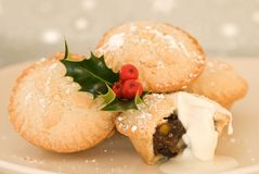 O Natal tritura tortas Foto de Stock Royalty Free