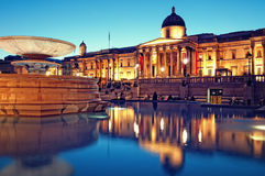 O National Gallery, Londres. Imagem de Stock