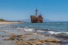 O naufrágio de Dimitrios Fotos de Stock Royalty Free