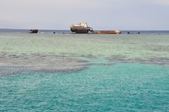 O navio afundado Foto de Stock Royalty Free
