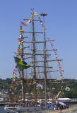 O navio alto brasileiro Cisne Branco visita New York durante a semana 2012 da frota Fotos de Stock Royalty Free