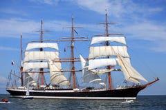 O navio alto compete 2009 - STS Sedov Imagem de Stock