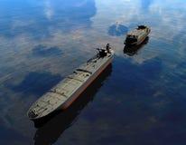 O navio de carga ilustração royalty free