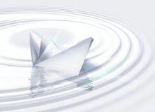 O navio de papel Foto de Stock