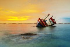 O navio destruído Foto de Stock Royalty Free