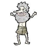 o navio dos desenhos animados destruiu o homem do eremita Imagens de Stock Royalty Free