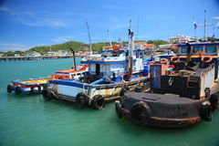 O navio dos pescadores em Tailândia Foto de Stock