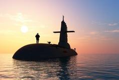 O navio militar ilustração do vetor