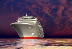 O navio moderno ilustração stock