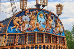 O navio-museu em Voronezh foto de stock