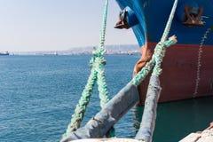 O navio no porto Fotos de Stock Royalty Free