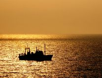 O navio vai para casa Fotografia de Stock Royalty Free