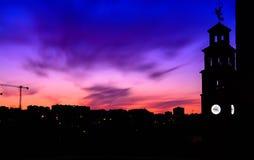 O ND filtra a paisagem em Hospitalet de Llobregat, Barcelona Fotos de Stock