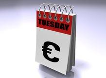 O negócio é um calendário Fotografia de Stock Royalty Free