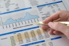 O negócio analisa Foto de Stock Royalty Free