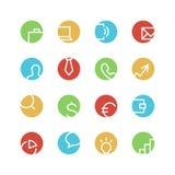 O negócio coloriu o grupo do ícone Imagem de Stock Royalty Free