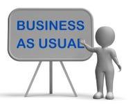 O negócio como de costume Whiteboard significa do dia a dia Imagem de Stock
