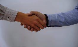 O negócio da imagem equipa o aperto de mão Encontro da parceria do negócio concentrado Foto de Stock Royalty Free