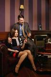 O negócio de família comemora o negócio bem sucedido Foto de Stock