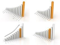 O negócio diagrams a coleção Fotografia de Stock