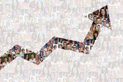 O negócio do sucesso melhora povos bem sucedidos da estratégia do crescimento Foto de Stock Royalty Free
