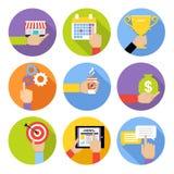 O negócio entrega ícones Imagem de Stock Royalty Free