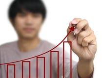 O negócio escreve o gráfico do crescimento Imagens de Stock