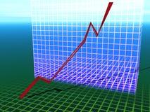 O negócio está no ascendente ilustração stock