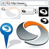 O negócio gira o projeto abstrato do logotipo. Foto de Stock Royalty Free