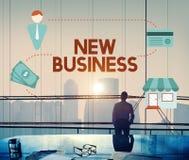 O negócio novo começa acima o conceito da visão das ideias frescas Fotografia de Stock