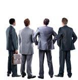 O negócio quatro equipa da parte traseira Fotografia de Stock Royalty Free