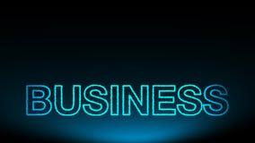 O negócio tridimensional do texto Fotografia de Stock