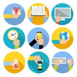 O negócio entrega ícones Imagem de Stock