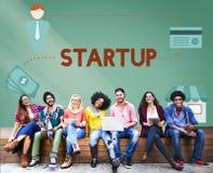 O negócio novo começa acima o conceito da visão das ideias frescas Fotografia de Stock Royalty Free