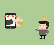 O negócio obteve uma ideia obtém o dinheiro no mercado do comércio eletrônico Imagens de Stock