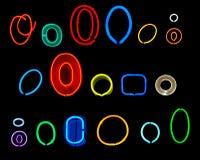 O-Neon-Zeichen Lizenzfreies Stockfoto