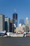 O New York City w da baixa a torre da liberdade Imagem de Stock Royalty Free