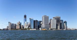 O New York City w da baixa a torre da liberdade Imagens de Stock