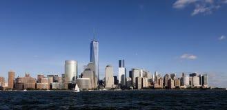 O New York City w do centro a torre 2014 da liberdade Fotografia de Stock