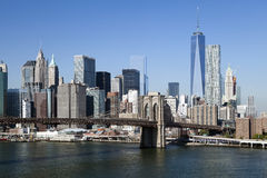 O New York City w do centro a torre 2014 da liberdade Imagens de Stock