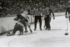 O NHL do vintage luta imagem de stock royalty free