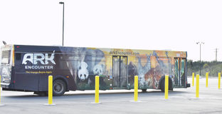 O ônibus do encontro da arca fotografia de stock