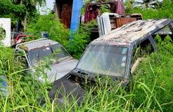 Ośniedziali Zaniechani samochody Obrazy Royalty Free